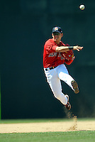 SS Jose Iglesias of the Portland Sea Dogs in action vs. the Trenton Thunder at Hadlock Field May 23, 2010 in Portland, ME (Photo by Ken Babbitt/Four Seam Images)