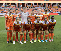 Houston, TX - Wednesday June 28, 2017: Houston Dash Starting XI prior to a regular season National Women's Soccer League (NWSL) match between the Houston Dash and the Boston Breakers at BBVA Compass Stadium.