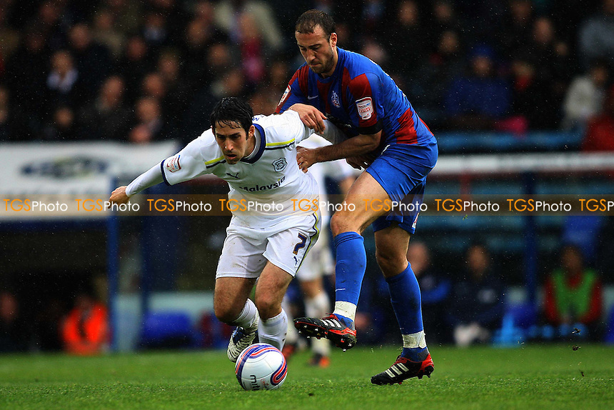 Peter Whittingham of Cardiff City is challenged by Glenn Murray of Crystal Palace - Crystal Palace vs Cardiff City - nPower Championship Football at Selhurst Park Stadium, London - 28/04/12 - MANDATORY CREDIT: George Phillipou/TGSPHOTO - Self billing applies where appropriate - 0845 094 6026 - contact@tgsphoto.co.uk - NO UNPAID USE.