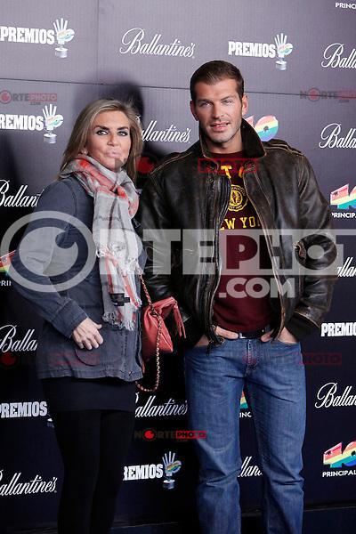 Darek and Susana Uribarri attends 40 Principales awards photocall  2012 at Palacio de los Deportes in Madrid, Spain. January 24, 2013. (ALTERPHOTOS/Caro Marin) /NortePhoto