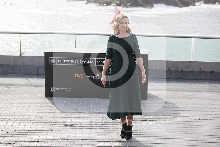 Awarded actress Emily Watson poses for the photographers at photocall during 63rd Donostia Zinemaldia (San Sebastian International Film Festival) in San Sebastian, Spain. September 25, 2015. (ALTERPHOTOS/Victor Blanco)