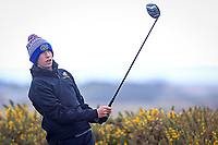 Tom McKibbin (Holywood) on the 5th tee during the Final Round of the Connacht U18 Boys Open 2018 on Carne Golf Links at Belmullet Golf Club on Sunday 6th April 2018.<br /> Picture:  Thos Caffrey / www.golffile.ie<br /> <br /> All photo usage must carry mandatory copyright credit (&copy; Golffile | Thos Caffrey)