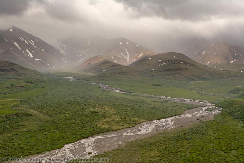 Polychrome pass in Denali National Park, Alaska