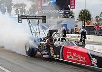 Mar. 10, 2012; Gainesville, FL, USA; NHRA top fuel dragster driver Ike Maier during qualifying for the Gatornationals at Auto Plus Raceway at Gainesville. Mandatory Credit: Mark J. Rebilas-