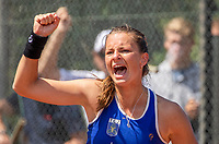 Zandvoort, Netherlands, 9 June, 2019, Tennis, Play-Offs Competition, Quirine Lemoine (NED) celebrates<br /> Photo: Henk Koster/tennisimages.com