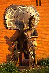 A084HE Capel St Andrew Suffolk - Saint Andrew sculpture- England