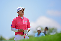 Haru Nomura (JPN) looks over her tee shot on 2 during Sunday's final round of the 72nd U.S. Women's Open Championship, at Trump National Golf Club, Bedminster, New Jersey. 7/16/2017.<br /> Picture: Golffile | Ken Murray<br /> <br /> <br /> All photo usage must carry mandatory copyright credit (&copy; Golffile | Ken Murray)