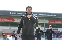 Lincoln City manager Danny Cowley<br /> <br /> Photographer Chris Vaughan/CameraSport<br /> <br /> The EFL Sky Bet League Two - Lincoln City v Cheltenham Town - Saturday 13th April 2019 - Sincil Bank - Lincoln<br /> <br /> World Copyright © 2019 CameraSport. All rights reserved. 43 Linden Ave. Countesthorpe. Leicester. England. LE8 5PG - Tel: +44 (0) 116 277 4147 - admin@camerasport.com - www.camerasport.com