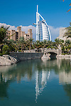 View of Burj Al-Arab from the Souk Madinat Jumeirah, Dubai., United Arab Emirates, United Arab Emirates