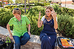 Cathleen Moore Grant and Martha Tessmer are members of the support group Mothers of an Angel Friendship Network. They met at Sierra Vista Mall in Clovis, California for a photo session.
