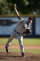 San Jose Giants relief pitcher CJ Gettman (39) delivers a pitch to the plate during a California League game against the Modesto Nuts at John Thurman Field on May 9, 2018 in Modesto, California. San Jose defeated Modesto 9-5. (Zachary Lucy/Four Seam Images)