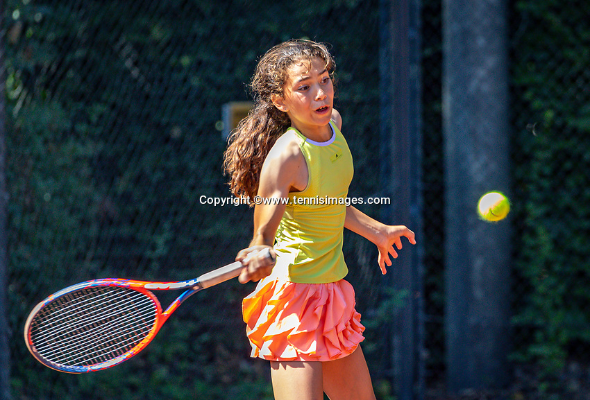 Hilversum, Netherlands, Juli 29, 2019, Tulip Tennis center, National Junior Tennis Championships 12 and 14 years, NJK, Silver Bijlsma (NED)<br /> Photo: Tennisimages/Henk Koster