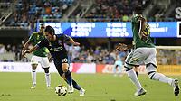 San Jose, CA - Saturday September 30, 2017: Jahmir Hyka during a Major League Soccer (MLS) match between the San Jose Earthquakes and the Portland Timbers at Avaya Stadium.