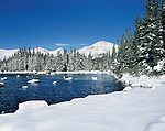 Red Rock Lake and fresh snow in the Indian Peaks Wilderness Area, Boulder, Colorado, USA. Private photo tours to Indian Peaks. .  John leads private photo tours in Boulder and throughout Colorado. Year-round Boulder photo tours.