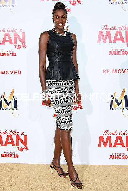 HOLLYWOOD, LOS ANGELES, CA, USA - JUNE 09: Lisa Leslie at the Los Angeles Premiere Of Screen Gems' 'Think Like A Man Too' held at the TCL Chinese Theatre on June 9, 2014 in Hollywood, Los Angeles, California, United States. (Photo by David Acosta/Celebrity Monitor)