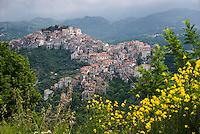 Rivello, Calabria, Italy, May 2007. Rivello lies high in the mountains just off the Autostrada. Many picturesque towns line the mountainous coastline of Calabria. Photo by Frits Meyst/Adventure4ever.com