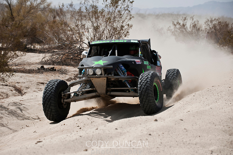 1st place Class 1 finisher Justin Davis near Zoo road, 2011 San Felipe Baja 250