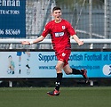 Queen's Park Blair Spittal's celebrates after his cross / shot hits the back of the net for their late equaliser.