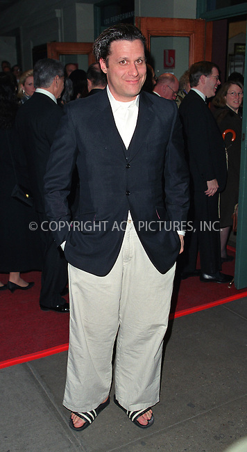"Fashion designer ISAAC MIZRAHI attending the play opening of ""The Crucible"" starring Liam Neeson and Laura Linney at the Virginia Theatre on Broadway in New York. March 7, 2002. © 2002 by Alecsey Boldeskul/NY Photo Press.   ..*PAY-PER-USE*      ....NY Photo Press:  ..phone (646) 267-6913;   ..e-mail: info@nyphotopress.com"