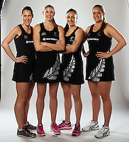23.08.2013 Silver Ferns and Fast5 Ferns Marketing images shot in Auckland. Mandatory Photo Credit ©Michael Bradley.