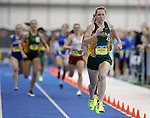 BROOKINGS, SD - FEBRUARY 25:  Morgan Milbrath from North Dakota State University pushes to the line during the women's 400 meter run at the 2017 Summit League Indoor Track and Field Championship Saturday afternoon in Brookings, SD. (Photo by Dave Eggen/Inertia)