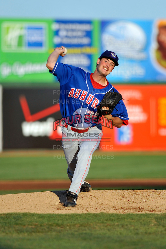 Auburn Doubledays pitcher Brian Dupra (36) during game against the Brooklyn Cyclones at MCU Park in Brooklyn, NY July 14, 2011. Cyclones won 2-0.  Photo By Tomasso DeRosa/ Four Seam Images