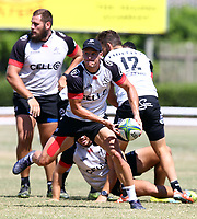 Louis Schreuder during the cell c sharks pre season training session at  Growthpoint Kings Park ,22,01,2018 Photo by Steve Haag)