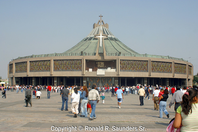The SHRINE BECAME the MOST VISITED CATHOLIC SHRINE in the WORLD. The ORIGINAL BASILICA DATES FROM 1536 and STILL STANDS. HOWEVER, a NEW BASILICA of GUADALUPE WAS BUILT BETWEEN 1974 and 1976.