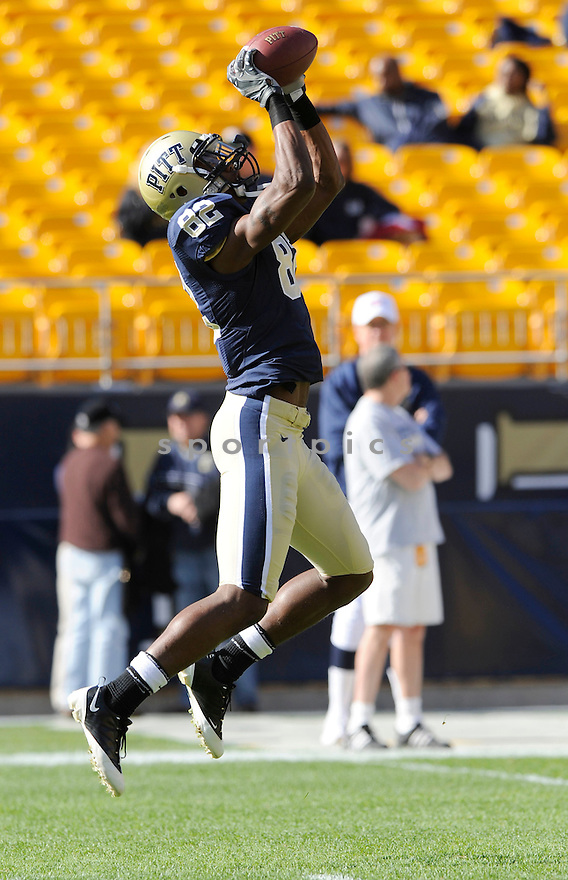 JONATHAN BALDWIN, of the Pittsburgh Panthers in action during the Panthers game against the Syracuse Orangemen on November 7, 2009 in Pittsburgh, PA. Panthers won 37-10.