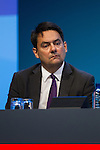 © Joel Goodman - 07973 332324 . 22/09/2013 . Brighton , UK . STEPHEN TWIGG , Shadow Secretary of State for Education , sits on stage during the Rebuilding Our Society - Education and Children session this afternoon (Sunday 22nd September 2013) . Day 1 of the Labour Party 's annual conference in Brighton . Photo credit : Joel Goodman