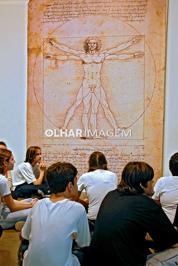 Exposição Leonardo da Vinci - A exibição de um gênio. São Paulo. 2007. Foto de Juca Martins.