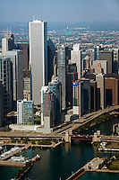 aerial photograph downtown Chicago, Illinois