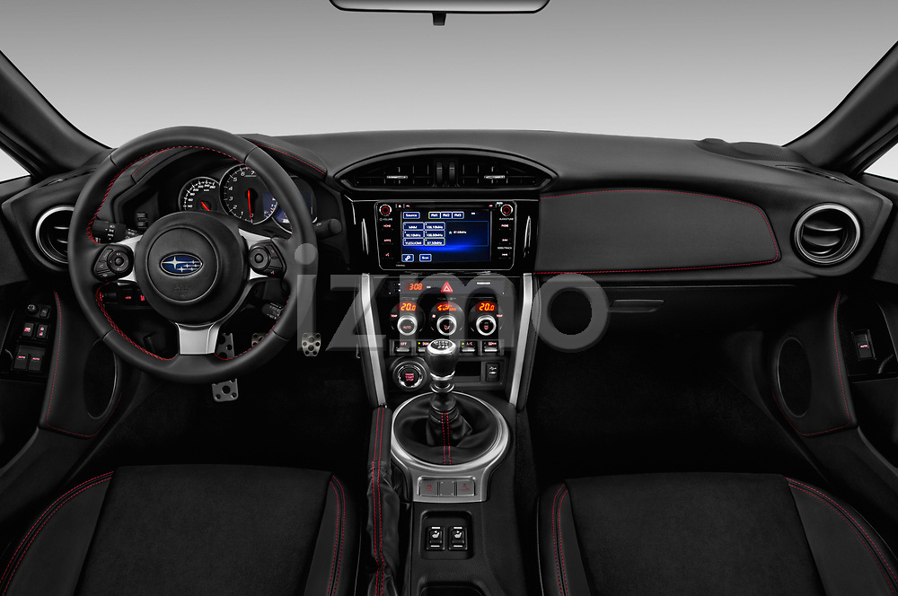Stock photo of straight dashboard view of a 2017 Subaru BRZ Sport Premium 2 Door Coupe
