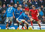4.3.2018: Rangers v Falkirk Scottish Cup QF<br /> David Bates and James Tavernier with Louis Longridge