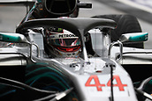24th March 2018, Melbourne Grand Prix Circuit, Melbourne, Australia; Melbourne Formula One Grand Prix, qualifying; Mercedes AMG Petronas Motorsport AMG F1 Team; Lewis Hamilton prepares for qualifying