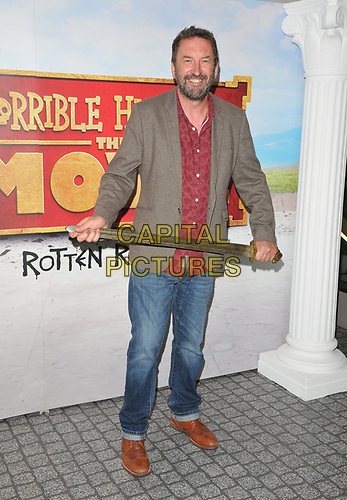 """Lee Mack at the """"Horrible Histories: The Movie - Rotten Romans"""" world film premiere, Odeon Luxe Leicester Square, Leicester Square, London, England, UK, on Sunday 07th July 2019.<br /> CAP/CAN<br /> ©CAN/Capital Pictures"""
