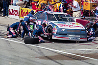 Hut Stricken, #12 Chevrolet, pit stop, Winston 500, Talladega Superspeedway, Talladega, Alabama, May 1992.(Photo by Brian Cleary/bcpix.com)