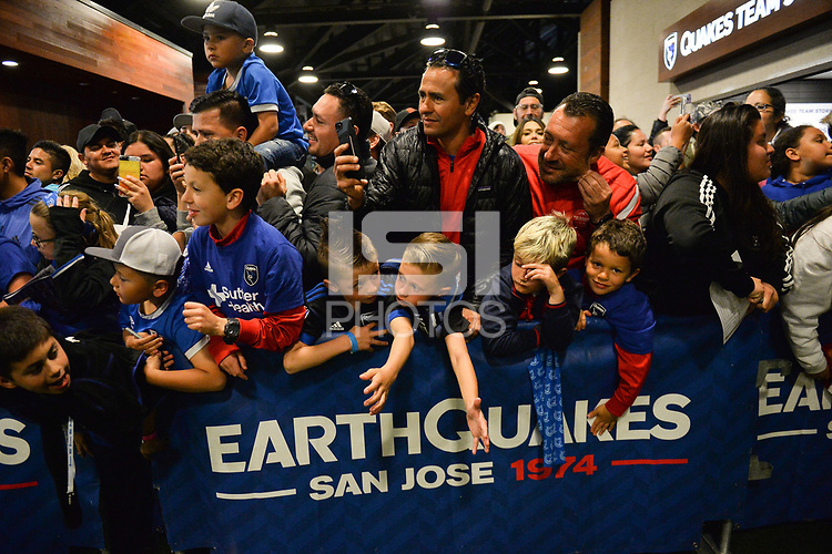 San Jose, CA - Saturday April 14, 2018: Fans during a Major League Soccer (MLS) match between the San Jose Earthquakes and the Houston Dynamo at Avaya Stadium.
