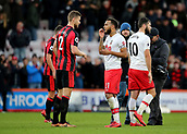 3rd December 2017, Vitality Stadium, Bournemouth, England; EPL Premier League football, Bournemouth versus Southampton; Ryan Bertrand of Southampton chats with Simon Francis of Bournemouth at full time