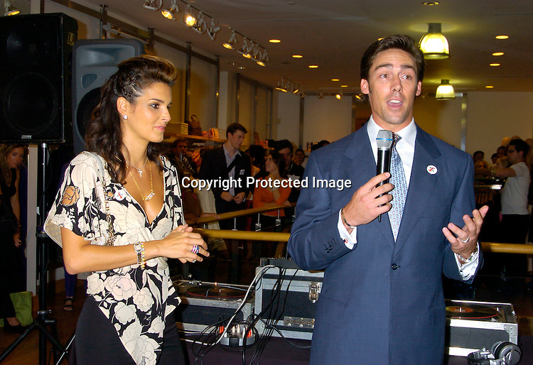 """Angie Harmon and Jason Sehorn ..at The French Connection  and Rock The Vote for a """"Fcuk You, I'm Voting Party on August 31, 2004 in New York City. ..Photo by Robin Platzer, Twin Images"""