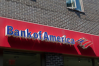 A Bank of America branch is pictured in New York City, NY Monday August 1, 2011. Bank of America Corporation (NYSE: BAC) is an American multinational banking and financial services corporation.