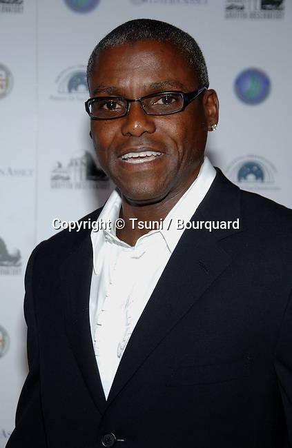 Carl Lewis arriving at GRIFFITH OBSERVATORY Re-Opening in Los Angeles.<br /> <br /> headshot<br /> smile<br /> eye contact