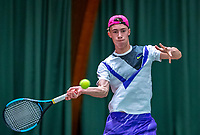 Wateringen, The Netherlands, December 4,  2019, De Rhijenhof , NOJK 14 and18 years, Jim Hendrikx (NED)<br /> Photo: www.tennisimages.com/Henk Koster