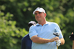 Thomas Bjorn Teeing off on the 14th on day two of the Celtic Manor wales Open 2010.Picture Fran Caffrey/Newsfile.ie