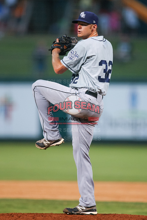Robert Ray (32) in action during the MiLB matchup between the New Orleans Zephyrs and the Oklahoma City Redhawks at Chickasaw Bricktown Ballpark on June 10th, 2012 in Oklahoma City, Oklahoma. The Redhawks defeated the Zephyrs 12-9  (William Purnell/Four Seam Images)