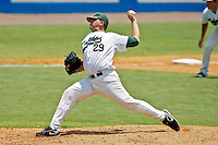 June 05, 2011:    Jacksonville Dolphins lhp Tony Mollica (29) pitches during NCAA Gainesville Regional action between Jacksonville Dolphins and Miami Hurricanes played at Alfred A. McKethan Stadium on the campus of Florida University in Gainesville, Florida.    Miami defeated Jacksonville 6-3. ........
