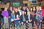 50th Birthday: Dinny O'Sullivan Kilocrim, Listowel , centre front, celebrating his 50th birthday with family & friends at McCarthy's Bar in Finuge on Saturday night last.