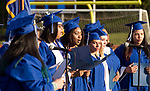 WATERBURY, CT-062117JS08- Members of the Crosby Senior Choir sing a medley of songs during graduation ceremonies on Wednesday at Crosby High School in Waterbury. <br /> Jim Shannon Republican-American