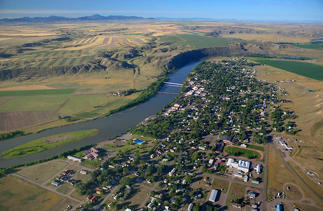Fort Benton along Missouri River