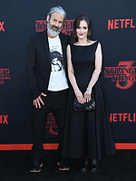 "28 June 2019 - Santa Monica, California - Scott Mackinlay Hahn, Winona Ryder. ""Stranger Things 3"" Los Angeles Premiere held at Santa Monica High School. Photo Credit: Birdie Thompson/AdMedia"